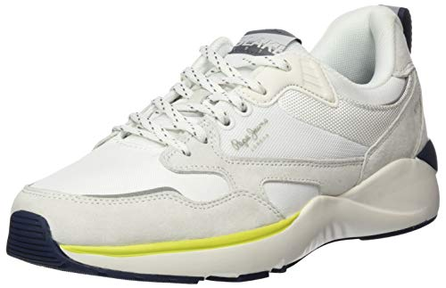 Pepe Jeans Blake X73, Zapatillas para Hombre, Color Blanco 800, 46 EU