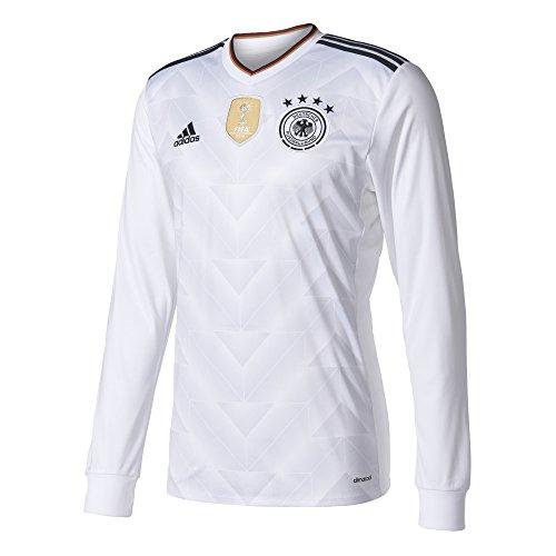 adidas DFB H JSY L Camiseta Oficial 1ª Equipación Federación Alemana de Fútbol, Hombre, Blanco (Blanco/Negro), XS