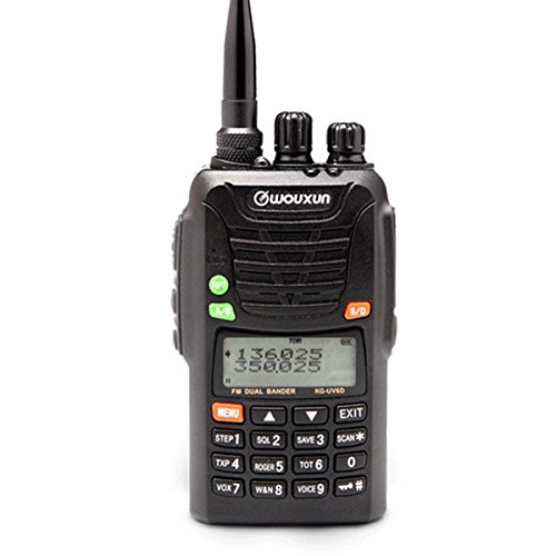 WOUXUN KG-UV6D 2m/4m 66-88/136-174MHz Tragbares BOS Tonruf-I Amateurfunk Dualband PMR-Handfunkgerät (komplett mit neuer Optischer Version und Zubehör)