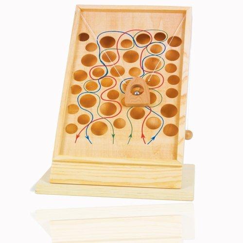 Legler jouet en bois naturel motorikspiel de patience avec bille