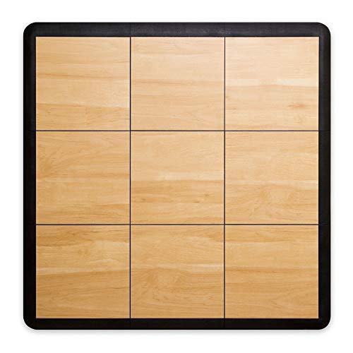 SnapFloors 3X3 Modular Dance Floor Kit (3' x 3'), Light Maple, 21 Piece