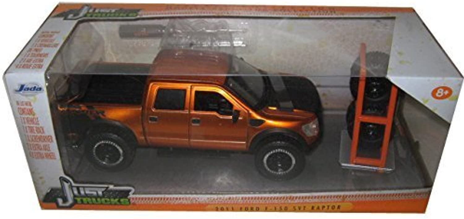 2011 Ford F-150 SVT Raptor Pickup Truck Copper Just Trucks with Extra Wheels 1 24 by Jada 97192 by Jada