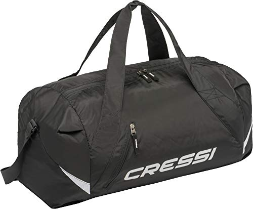 Cressi Palawan Bag, Borsone Pieghevole Idrorepellente per Sport/Nuoto, Nero Taglia Unica