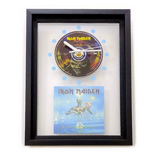 IRON MAIDEN - Seventh Son Of A Seventh Son: GERAHMTE CD-WANDUHR/Exklusives Design