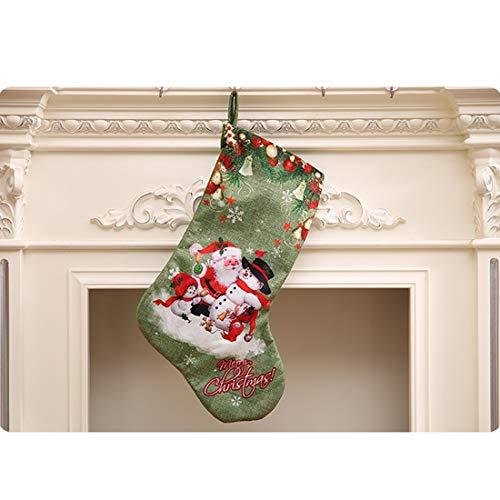 Mamimami Home 1pc Weihnachtsstrümpfe Strümpfe Anhänger Weihnachtsmann Strümpfe Weihnachtsstrümpfe Alter Mann Weihnachtsdeko Zum Aufhängen Weihnachtssocken Kamin Deko Weihnachtlich