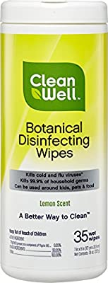 Cleanwell Botanical Disinfecting Wipes