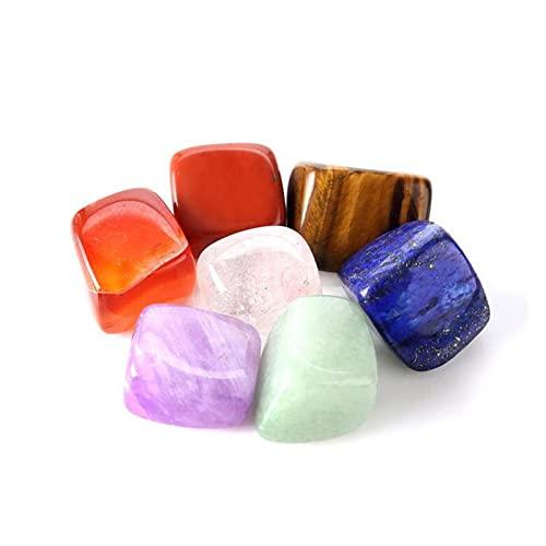 JSJJAWA lámpara de Pared Natural 7 curación de Cristal cayó Piedras Hermosas Piedras artesanales Piedras Preciosas decoración