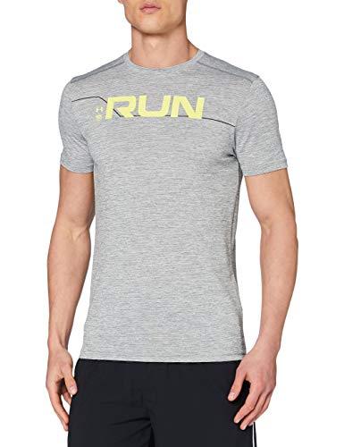 Under Armour Run Front Graphic T-Shirt à Manches Courtes pour Homme L Vert Argile/Noir/réfléchissant (709).