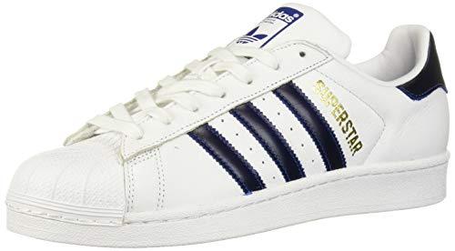 adidas Originals Men's Superstar Shoe Running, white/collegiate royal/gold metallic, 10 M US