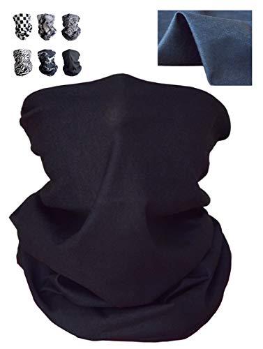 SunPlanet Bandana-Mundschutz - 6 Stück, Schwarz/Weiß-Design - 100 % Polyester