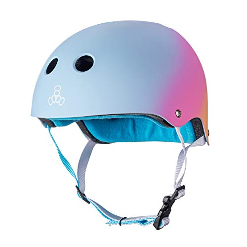 Triple Eight The Certified Sweatsaver Helmet for Skateboarding, BMX, and Roller Skating, Sunset, Large/X-Large