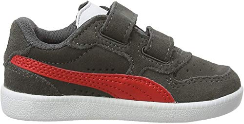 Puma Unisex Baby Icra Trainer Sd V Inf Sneaker, Grau (Castlerock-High Risk Red White), 22 EU