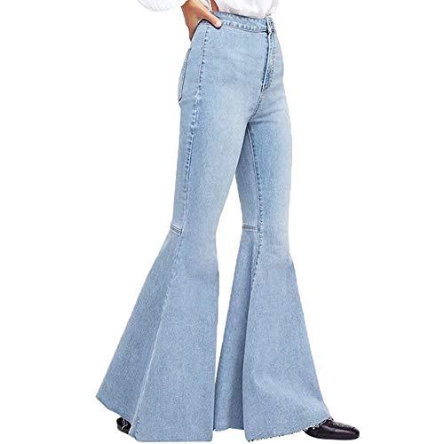 Vaqueros para Mujer,STRIR Pantalones Vaqueros Mujeres Slim Cintura Alta Pantalones De Campana Jeans...