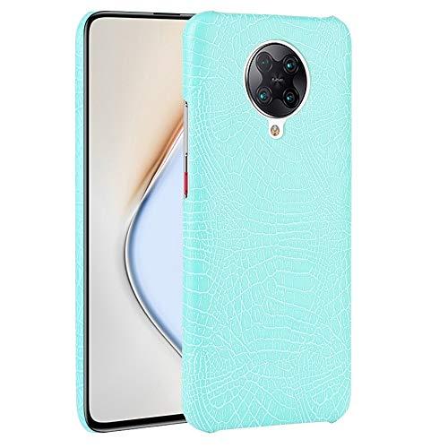 Liluyao Funda telefónica para Xiaomi For Xiaomi Poco F2 / K30 Pro Caja de la PU Pro redmi Prueba de Golpes Textura del cocodrilo PC (Color : Light Green)