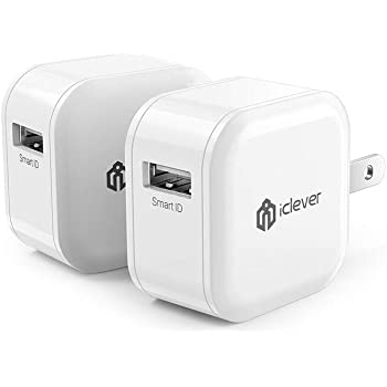 Mini Travel USB Charger, 12W 2-Pack Cell Phone Charger Adapter w/Foldable Plug for iPhone11 Pro/X/XR /8/7 /6/ Plus, iPad Pro/Air 2 /Mini 3/ Mini 4, Galaxy S7/ S6 /S6 Edge/Edge+, Note 5 and More