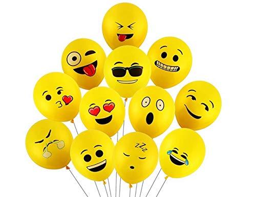 TOMYEER 50 Piezas Globos de Fiesta de Emojis Divertidos Globos de látex Fiesta de Emoji