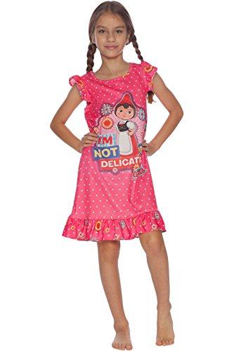 INTIMO Girls' Little Sherlock Gnomes Juliet Ruffle Nightgown, Pink, 6/6X