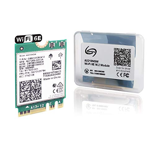 WiFi 6E AX210 Expands Wi-Fi into 6GHz with BT 5.2 Tri-Band WiFi 6 Module for Laptop and Desktop Support Windows10 64bit