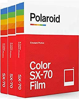 Polaroid Originals SX70 Color Film Triple Pack
