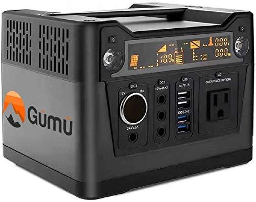 GüMü 300 W stroomgenerator, stille, zonne-generator, draagbaar, elektrische groep, omvormer, stroomvoorziening 220 V, 3 USB-poorten, voor camping, bergen