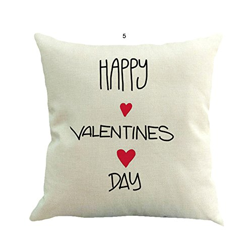 Sonojie Valentine'S Day Cushion Cover Hugging Pillow Cover Square Decoration Set, Sofa Chair Office Home Accessories Living Room Bedroom Indoor and Outdoor Cushion Cover-Invisible Zipper