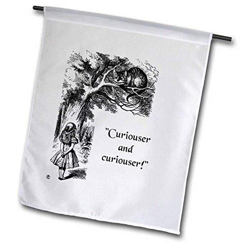 3dRose Curiouser and Curiouser Alice im Wunderland Lewis Carroll Zitat Gartenflagge, 30,5 x 45,7 cm