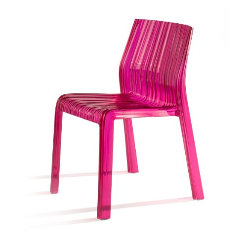 Kartell 5880/D8 Frilly Sedia, Fucsia