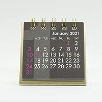 【2021年1月始まり カレンダー】ミニミニ 卓上カレンダー ゼットアンドケイ (ブラック)