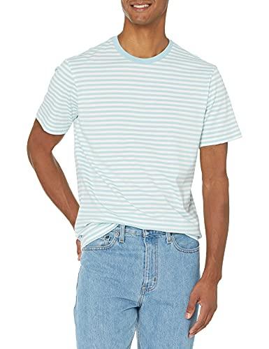 Amazon Essentials Men's 2-Pack Slim-Fit Short-Sleeve Crewneck Stripe T-Shirt