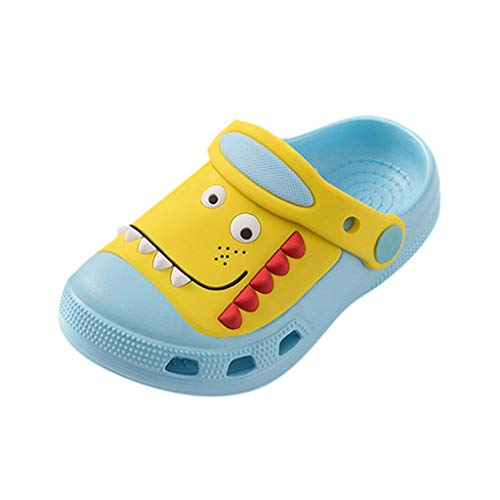 HDUFGJ Unisex-Kinder Gartenschuhe Clogs Kuschelige Hausschuhe Latschen Sandalen Sommer rutschfeste Slippers mit Cartoon Dinosaurier