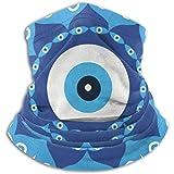 Linger In Calentador de Cuello Mandala Griego Símbolo de Mal de Ojo Bufanda, una máscara Facial Completa o Sombrero, Polaina de Cuello, Gorra de Cuello máscara de esquí