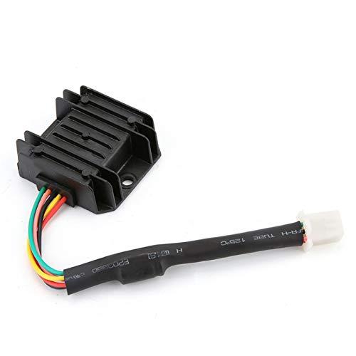Regulador de voltaje de 5 pines y 5 cables, rectificador de voltaje de motocicleta, material de aluminio para motocicleta