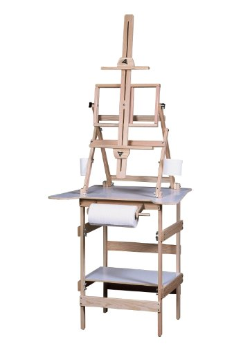 American Easel Deluxe Paint Station-Natural Fir