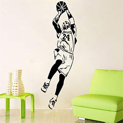 Kobe Bryant Tatuajes de pared NBA Kobe Bryant Jugador de baloncesto Pegatinas de pared Tatuajes Decoración para el hogar Fan Regalos