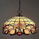 Lampada A Sospensione Tiffany, Elegante Retr Vetrate Regolabile...