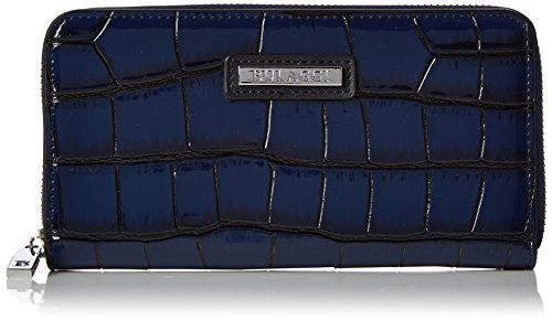 Bulaggi Shadow Wallet Zip Around - Portafogli Donna, Blau (Dunkel Blau), 10x02x19 cm (B x H T)