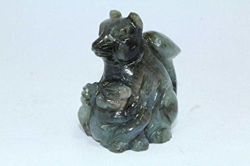 Rajasthan Bijoux Naturel Pierre labradolite Kangourou Figurine Home cadeau décoratif de l'article