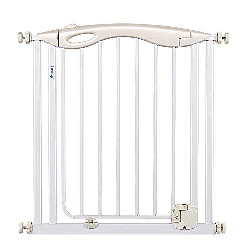 Barrière de sécurité Baby Gates for Doorways - Portes piétonnes en métal pour Animaux de Compagnie, kit de Montage sous Pression, pour Enfants à Fermeture Automatique, Largeur 77-