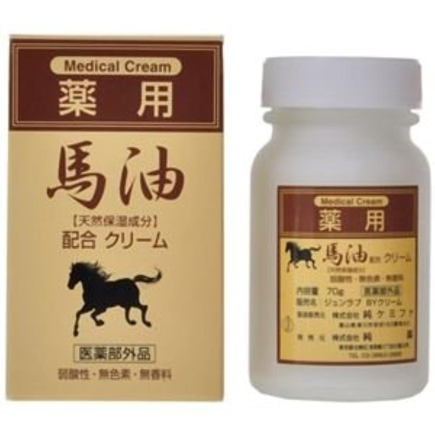 アベニューオンス傷つける純薬 薬用 馬油配合クリーム 70g 4セット