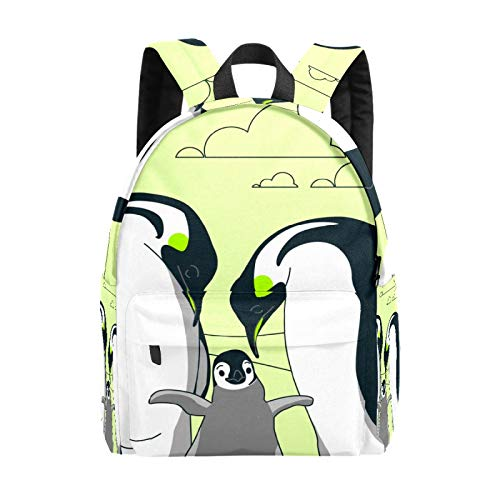 Backpack Boy Girl Daypack,Penguin Family Kids Backpack School Bookbag Travel Bag Casual Rucksack Gift