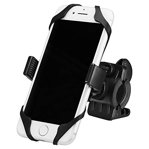 Spigen Support Telephone, [Universal][360° safeview][2 Non-Slip Straps] Support Vélo for iPhone X/8/8 Plus/7/6S/6/SE, Galaxy Note 8/S8/S8 Plus/S7, Google Pixel 2/2XL and All Smartphones- A250
