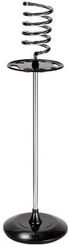 Hairholder Spirale Sèche Cheveux Titulaire Rangement Support Lourd Devoir Base Ventilateur Supporter Up Titulaire Grille Organisateur avec Accessoires Plateau pour Coiffeur Salon Coiffure, noir