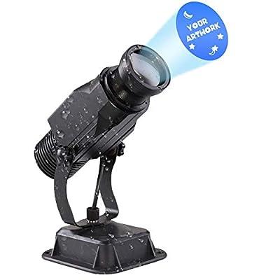 DYJD 15W LED GOBO Projector Custom Logo Outdoor Waterproof Manual Zoom 6-30ft for Wedding Birthday