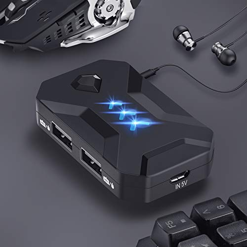 Limited time Discount 20 Keyboard Mouse Converter IPPINKAN Adapter Maus und Tastatur Konverter fur PS4 PS3 Xbox One Nintendo Switch KX USB 20 Game Controller Converter Keyboard Mouse