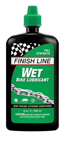Finish Line WET Bike Lubricant Squeeze Bottle, 8 oz.