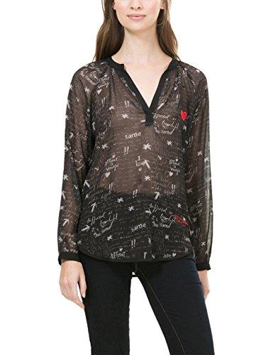Desigual Damen Bluse BLUS_LINA, Schwarz (Negro 2000), Gr. S (Herstellergröße:Medium)
