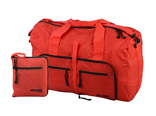 Skypak 53cm Folding Travel Bag Onboard Size in Red (Red)
