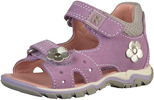 Richter Kinder Lauflerner-Sandalen lila Velourleder Mädchen Schuhe 2302-542-1401 Jumbo, Farbe:violett, Größe:20 EU