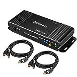 TESmart 2x1 KVM HDMI Switch HDMI 4K Interruttore 3840x2160 @60Hz 4:4:4 con 2 Cavi da 5ft KVM Supporta Dispositivi USB 2.0 Controllo Fino a 2 Computer/Server/DVR (Nero)