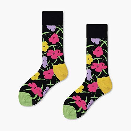 TIGERROSA De kousen 3 paar / nieuwe herensokken vrouwen vruchtbananen nieuw sok gekamd katoen grappige sokken heren Bigsize Crew sokken zwart rood